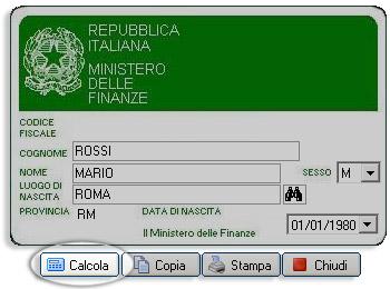 Software codice fiscale